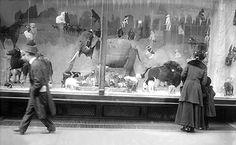 Macy's holiday windows, circa 1915