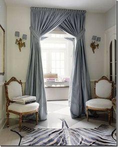decor, interior design, modern home design, design homes, curtains, living rooms, blue, window treatments, modern hous