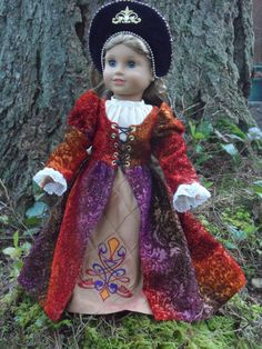 Renaissance gown for your American Girl doll by CarmelinaCreations, $82.00
