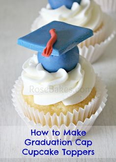 How to Make Graduation Cap Cupcake Toppers Tutorial