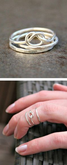 Knot stacking rings