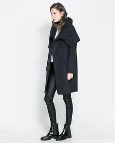 Wollen Wraparound Coat by Zara