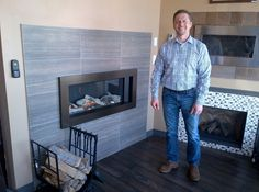 Paul Petersen, GM of Appleby Systems in Georgetown, Ontario, next to a newly installed L1 Linear Series valor instal, linear seri, newli instal, custom valor