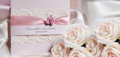 Creme and Sugar Vintage Rose Invitations