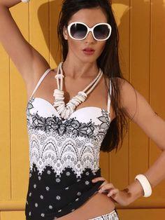 Lilly Beach Malibu Tankini Top 2014