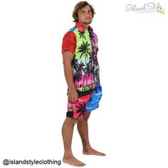 The loudest  most wicked Party Shirts & Shorts - Patchwork Hawaiians. Doesn't get much louder or uglier than this. The ultimate bad taste party tux. #cabana #partytux #hawaiianshirt #patchwork #uglyshirts #partyshirts #cabana #partytux #partykit #matchingshirtandshorts