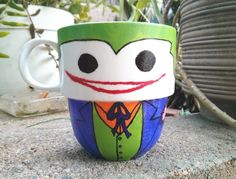 Hand Painted Joker Stackable Mug by TheCornerGeekery on Etsy, $15.00