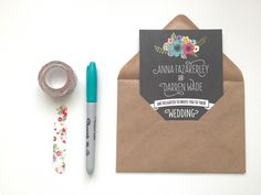 DIY wedding invitati