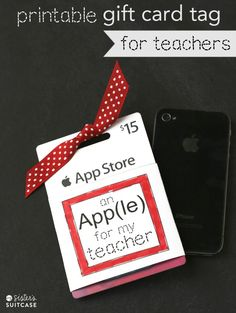 Printable Gift Card Tag for Teachers–Guest Post by My Sister's Suitcase - EverythingEtsy.com