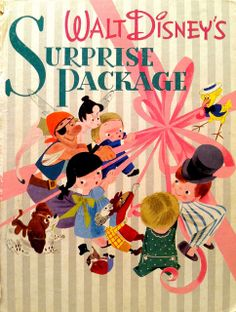 Walt Disney's Surprise Package cover illustration by Mary Blair, late 1940s