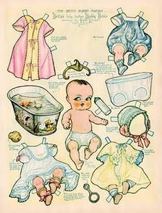 Vintage Baby Paper Doll