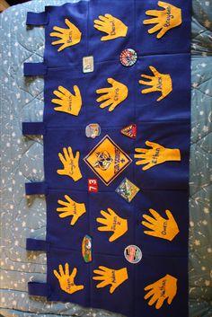 Cub Scout Hands Flag. Nice den activity. Cool.