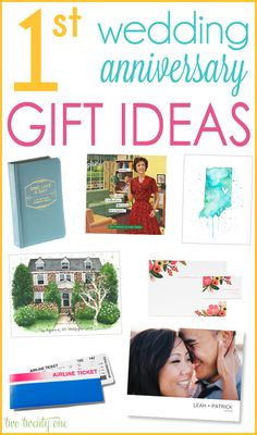 GREAT 1st wedding anniversary gift ideas!  Also includes 2nd, 3rd, and 4th anniversary gift ideas! :D
