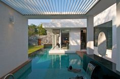 roof, interior design, swimming pools, architects, ateli dnd, dream pools, mill bungalow, around the house, dinesh mill