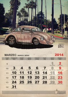 vw idea, vw garbus, 2014 air, vw calendar, vw beetl