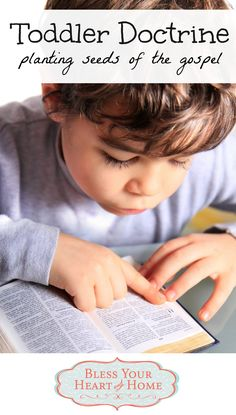 5 truths we are teaching our toddler to point him to the gospel (article also includes a list of helpful biblical parenting resources and Bible story books).