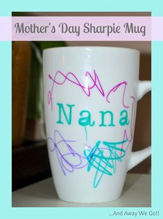Mothers Day: Homemade Sharpie Mug Gift Idea www.thetaylor-house.com