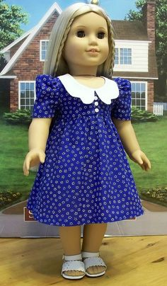 Royal flowered 70's dress for Julie or Ivy by Keepersdollyduds,