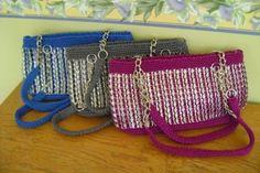 crochet pop tab purse