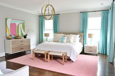 Business, Bedding, & Butlering | Young House Love - cozy and bright bedroom