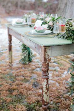 Snowy Mint + White Wedding Inspiration  Read more - http://www.stylemepretty.com/massachusetts-weddings/wellesley/2014/03/17/snowy-mint-white-wedding-inspiration/