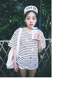 MILK Embroidered Striped T-shirt