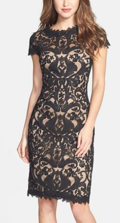 Gorgeous lace sheath dress by Tadashi Shoji http://rstyle.me/n/p4vzsn2bn