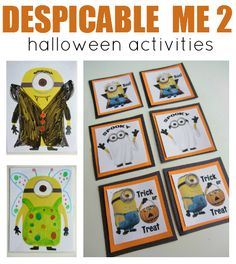 Cute Halloween crafts with minions from Despicable Me 2