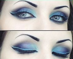 Icy blue and purple eyes