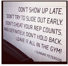 leave it all in the gym