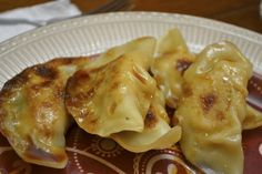 Chicken Pot Stickers with Ginger and Green Onion Dipping Sauce 6 Weight Watchers Points+