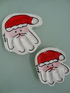 Christmas Craft: Salt Dough Santa Handprint