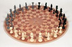 3 Person Chess Board