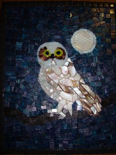 Mosaic owl              #mosaic #animals #birds