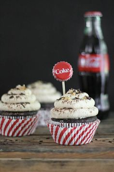 Peanuts in my coke cupcakes w/ salted peanut butter frosting.