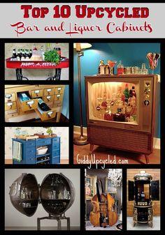 Top 10 Upcycled Bar and Liquor Cabinets - GiddyUpcycled.com