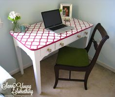 refinished-green-desk-chair