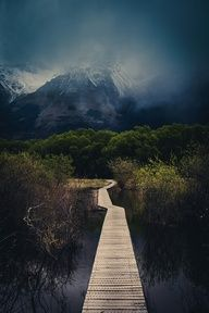 The Walking Path in Glenorchy, New Zealand