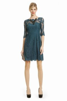 Sophia Lace Shift by Milly >> Love the color and the lace!