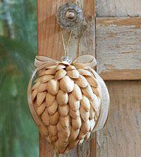 shells, christmas crafts, pistachios, nut, diy ornament, decorations, christma ornament, christmas ideas, diy christmas ornaments