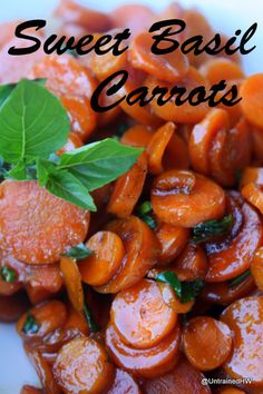 side dishes, basil carrot, sweet basil, sidedish recip, carrot recipes