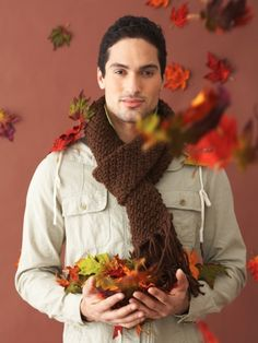 Handsome Scarf | Yarnspirations #knit #gifts