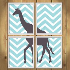 Animal Nursery Art Print  Chevron Giraffe by MadeForYouPrints, $42.95