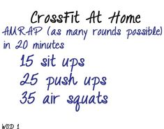 Crossfit Workouts at home.