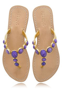 Purple Jeweled Sandals