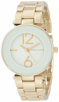 Anne Klein Women's AK/1074WTGB White Dial Gold Tone Bracelet Watch Anne Klein. Save 29 Off!. $52.92. Water-resistant to 30 M (99 feet). Gold-tone adjustable link bracelet with jewelry clasp closure and extender. Wall-to-wall mineral crystal with thick white frame. Glossy white dial with stylized big arabic gold-tone 6 & 12 numerals and marker at 9 o'clock. Japanese quartz movement and scratch resistant mineral crystal