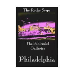 Philadelphia - The Rocky Steps Stretched Canvas Print