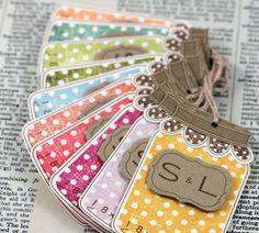 Mason jar tags. cute idea for escort tags!