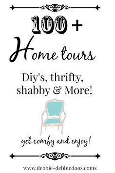 100+ tour of homes.  All styles, sizes and lots of diy's ideas!