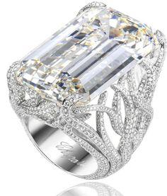 Emerald-cut Diamond Ring by Chopard